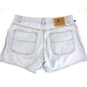 Ralph Lauren light wash denim jean shorts 6 A1